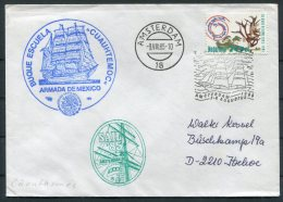 1985 Netherlands Amsterdam Sail '85 Tall Ships Cover. Mexico CUAUHTEMOC - Period 1980-... (Beatrix)