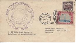 Premier Tour Du Monde Par Vol En Zeppelin - Zeppelins