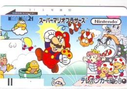 Télécarte Japon * 110-5852 * NINTENDO SUPER MARIO (60) JAPAN FRONT BAR PHONECARD * Balken Telefonkarte * TURTLE - Japan
