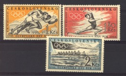 Tchécoslovaquie  :   Yv  1089-91  **   Sport , JO Rome