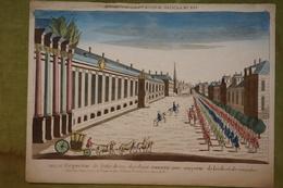 Vue D'optique XVIIIème - Pologne - Vue De L'entrée Du Roi De Pologne à Varsovie - Prenten & Gravure
