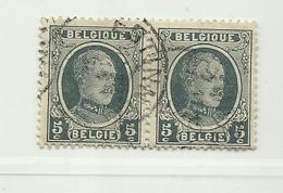 (116) Timbre Belgique Roi Albert I   N° 193 - 5c - 1922-1927 Houyoux