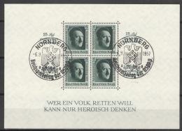 Deutsches Reich Block 11 O Sonderstempel Nürnberg