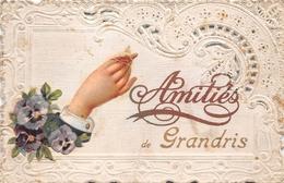 69 - Grandis  - Amitiés - Carte Dentèle - France