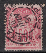 "BELLE FRAPPE OBLITERATION CAD DE ""ALEXANDRIE EGYPTE"" DE 1891 SUR SAGE N° 98 50c ROSE - 1876-1898 Sage (Type II)"