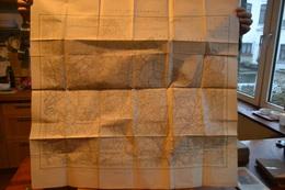 Camp D'Elsenborn. Carte Topographique. Institut Cartographique Militaire, édition 1930; éch.1/20.000 - Cartes Topographiques