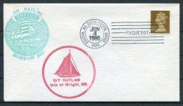 1980 GB S/Y OUTLAW, Isle Of Wright Sailing Ship Cover. Boston Operation Sail '82 PAQUEBOT - 1952-.... (Elizabeth II)