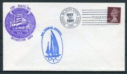 1980 GB SIR THOMAS SOPWORTH Sailing Ship Cover. Boston Operation Sail '82 PAQUEBOT - 1952-.... (Elizabeth II)