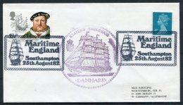 1982 GB Maritme England Southampton. Denmark STATENS SKOLESKIB Ship Cover - 1952-.... (Elizabeth II)