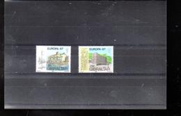 GIBRALTAR 530/531** SUR EUROPA 1987 AVEC ARCHITECTURE MODERNE - Gibraltar