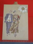 Cartes Postales > Thèmes > Spectacle > Artistes > Masquette De Costumes M Et Mme Trestaillon (Louis Jouvet) Non Circulé - Entertainers