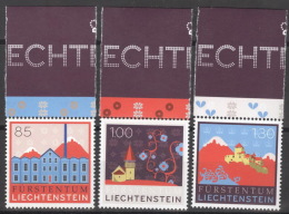 Liechtenstein 1475/77 Oberrand ** Postfrisch