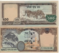 """NEPAL  500 Rupees     P66  """"without Rhododedrum""""   2009   UNC - Nepal"""