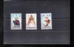 GIBRALTAR 575/577** SUR LES 50 ANS DES FORCES DE DEFENSE DU TERRITOIRE - Gibraltar