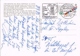 23232. Postal BAD OEYNHAUSEN (Alemania Federal) 1983. Baños, Fuente Termal - [7] República Federal