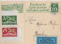 POSTKARTE 10Rp. → Mit Bild Vom Grossen St.Bernard  ►SBK F3 & F4 Grenchen 06.XI.27◄ - Poste Aérienne