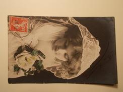Marcophilie - Lettre Enveloppe Obliteration Timbre Franchise Militaire N°5 Sur CP Fantaisie 1910 (917) - Marcophilie (Lettres)