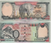 """NEPAL  1'000 Rupees     P68   """"without Rhododedrum""""   2010   UNC - Nepal"""