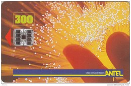 URUGUAY - Fiber Optic(5a), First Chip Issue 300 Units, Tirage 40000, 02/98, Used