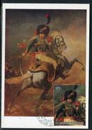 Rwanda - Carte Maximum 1975 , Oeuvre De Géricault , Officier Impérial à Cheval