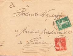 FRANCE ENVELOPPE DE STRASBOURG POUR PARIS DU 31 MARS 1920 - Covers & Documents