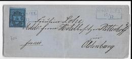 OLDENBURG - 1852 - LETTRE De HOOKSIEL (RARE - SELTEN)