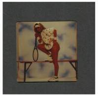 Beautiful Lady Model With Tennis Racket - Semi Nude - Erotic Photo Transparency - Size 6 Cm X 6 Cm - Dias