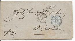 THURN UND TAXIS - 1861 - LETTRE De LANGENSCHWALBACH (HESSE) POSTGEBIET 207 - RARE