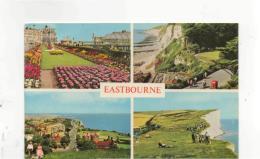 Postcard - Eastbourne 4 Views - Posted 15th Aug 1977 Very Good - Postcards