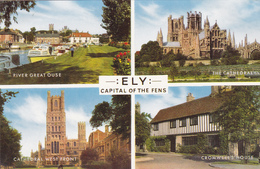 Postcard - Ely Capital Of The Fens-four Views New Unused - Postcards