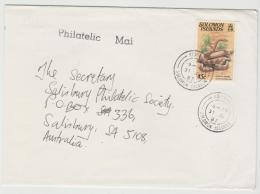 Bro024 / Solomon Islands, Guppy Snake (Schlange) 1987, Einzelfrankatur Nach Australien - Salomoninseln (Salomonen 1978-...)