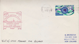 New Zealand 1973 USNS Maumee The Largest Ship To Visit Antarctica Ca Wellington 11 Feb 1973 Cover (34844) - Poolshepen & Ijsbrekers
