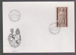 B 476) Liechtenstein 1976 Mi# 666 FDC: Bischof Ortlieb Von Brandis, Sarkophag Skulptur - Covers & Documents