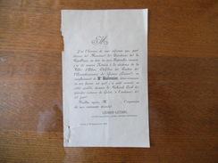 AHUN CREUSE LE 23 SEPTEMBRE 1901 LEOBON-LETANG ANCIEN MAGISTRAT NOMME NOTAIRE EN REMPLACEMENT DE Me MASBRENIER - Historische Dokumente