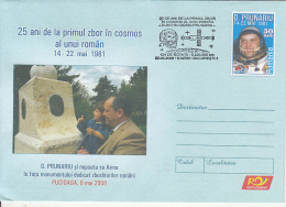 SPACE, COSMOS, D. PRUNARIU-FIRST ROMANIAN IN SPACE, COVER STATIONERY, ENTIER POSTAL, 2006, ROMANIA