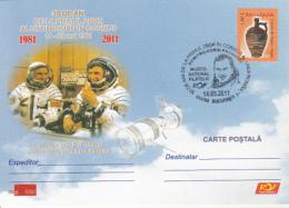 SPACE, COSMOS, D. PRUNARIU-FIRST ROMANIAN IN SPACE, SPECIAL POSTCARD, 2011, ROMANIA
