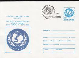 ORGANIZATION, UNICEF, CHILDRENS WELFARE, COVER STATIONERY, ENTIER POSTAL, 1995, ROMANIA