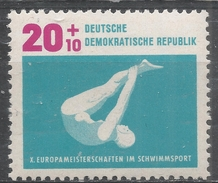 German Democratic Republic 1962. Scott #B92 (MNH) Springboard Diving * - [6] République Démocratique