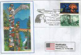 Native American Tribe & Indian History In Caneadea, New York, Letter Addressed To California - American Indians