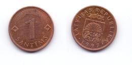 Latvia 1 Santims 1997 - Letonia