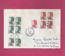 Lettre De Saint Pierre Et Miquelon De 1988 Pour La France - YT N° 455 X 6, 456 En Bloc De 4 CD, 464 - Liberté De Gandon - Lettres & Documents
