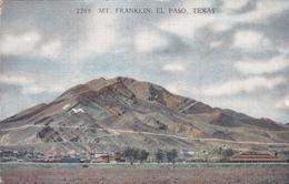 Postcard - Mt. Franklin. El Paso. Texas Very Good - Postcards