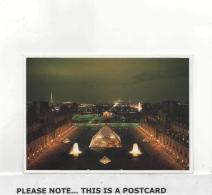 Postcard - Musee Du Louvre - La Pyramide Et Paris New - Cartes Postales