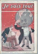 "JE SAIS TOUT   N°23  "" SCAPHANDRIER ""      -   DECEMBRE 1906 - Libros, Revistas, Cómics"