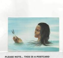 Postcard - Nauruan Girl Catching Fish In Buands Lagoon Very Good - Cartes Postales