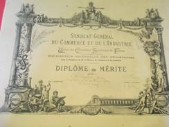 Diplôme De Mérite/ Synd. Gén. Du Commerce Et De L'Industrie/Union Des Chambres Syndicales De Fr /PRESTROT/1938    DIP153 - Diplomi E Pagelle