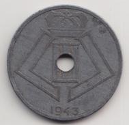 @Y@  België  25 Cent  1943   (4649) - 1934-1945: Leopold III