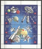 DDR Kleinbogen 1636/43 Packung Mit 10 Stück ** Postfrisch