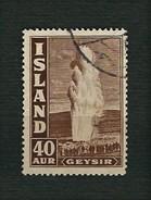 ISLAND 1938 - Geysir - 40 Aur - Mi:IS 195 - 1918-1944 Amministrazione Autonoma