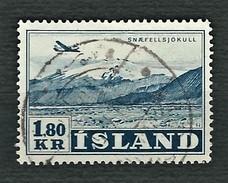 ISLAND 1952 - Aircraft Over Glacier Snaefell - 1,80 Kr - Mi:IS 278 - 1944-... Repubblica